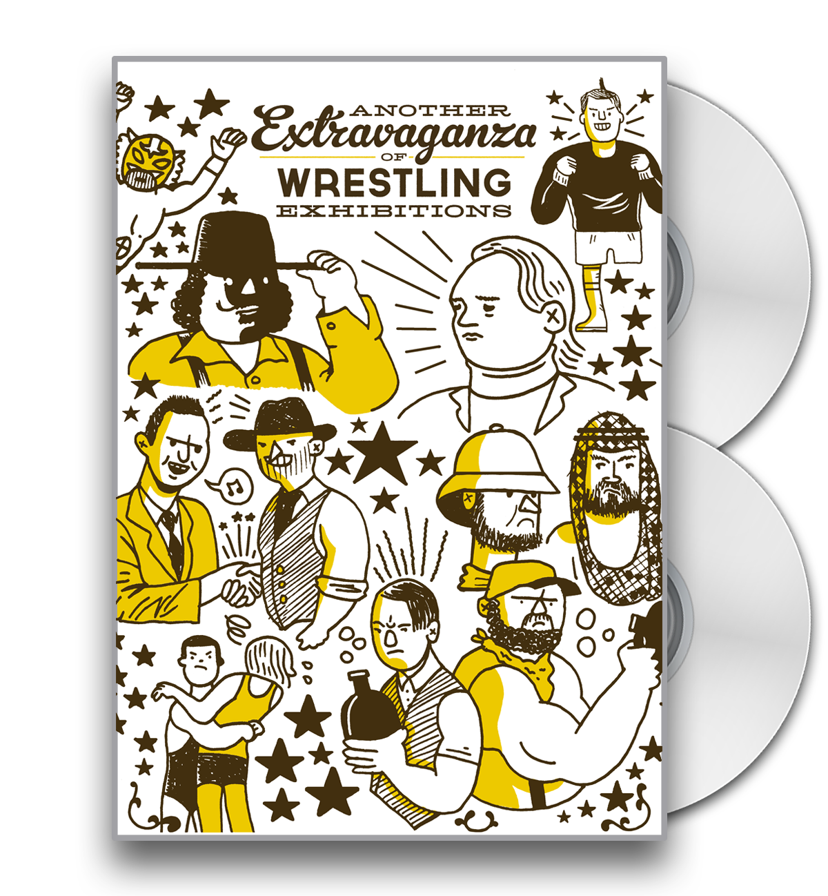 Another Extravaganza DVD artwork by Box Brown