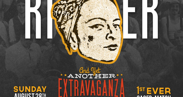 At the Extravaganza: Heidi the Riveter