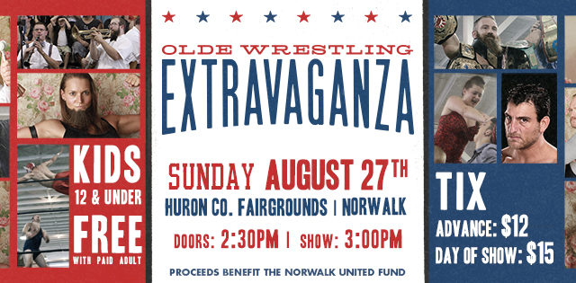 Olde Wrestling's 5th Extravaganza on August 27th!