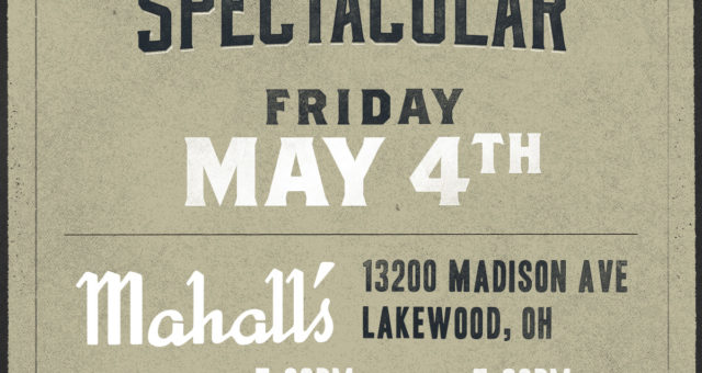 We return to Mahall's on May 4th!